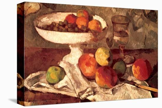 Still Life-Paul Cézanne-Stretched Canvas Print