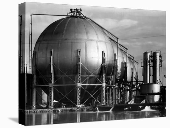 Storage Tanks at a Texaco Oil Refinery-Margaret Bourke-White-Stretched Canvas Print