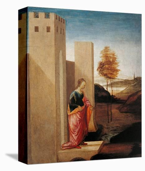 Story of Esther. Queen Vasthi Leaving the Ream-Filippino Lippi-Stretched Canvas Print