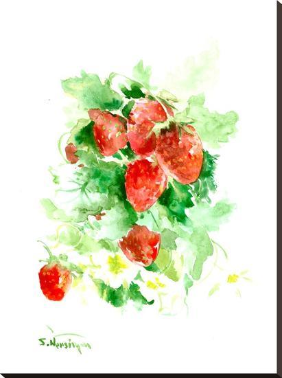 Strawberries-Suren Nersisyan-Stretched Canvas Print