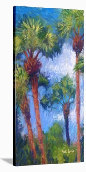 Strictly Palms 08-Rick Novak-Stretched Canvas Print