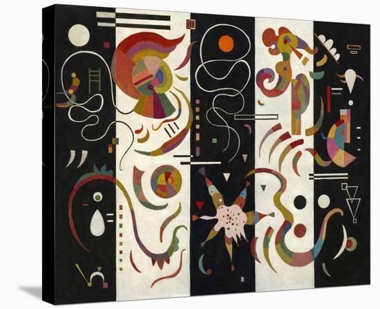 Striped (Raye)-Wassily Kandinsky-Stretched Canvas Print