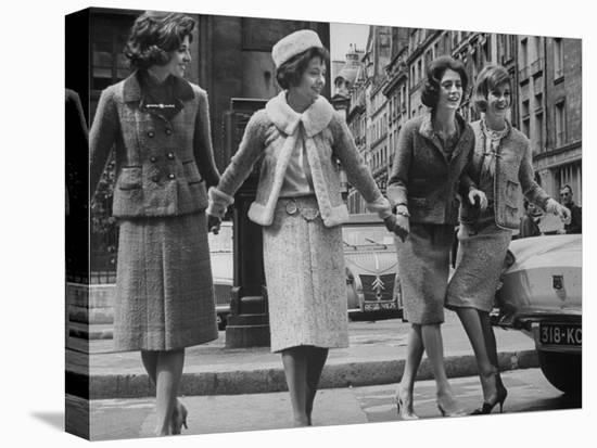 Suits Designed by Chanel-Paul Schutzer-Stretched Canvas Print