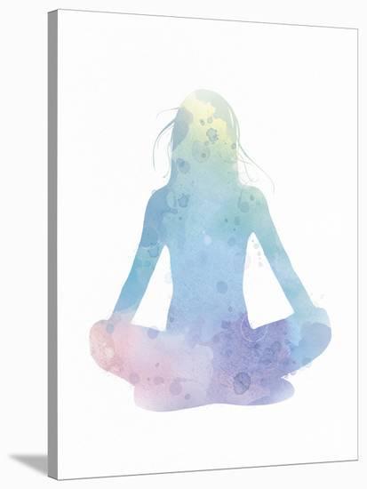 Sukhasana - Meditate--Stretched Canvas Print