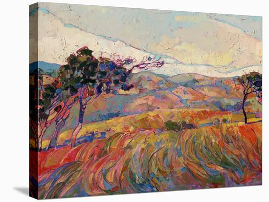 Summer in Triptych (center)-Erin Hanson-Stretched Canvas Print