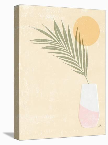 Sun Palm II Blush-Moira Hershey-Stretched Canvas Print