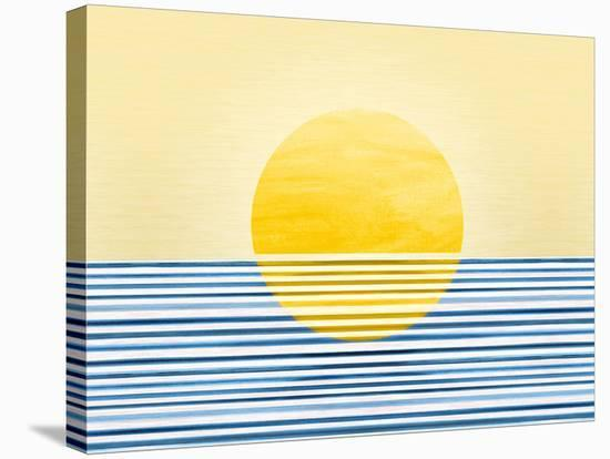 Sunrise Abstract--Stretched Canvas Print