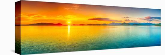 Sunrise Over The Sea. Panorama-GoodOlga-Stretched Canvas Print