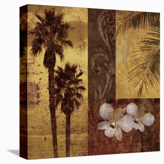Sunset Beach I-Keith Mallett-Stretched Canvas Print