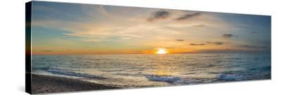 Sunset over Lake Michigan, Benzie County, Frankfort, Michigan, USA--Stretched Canvas Print