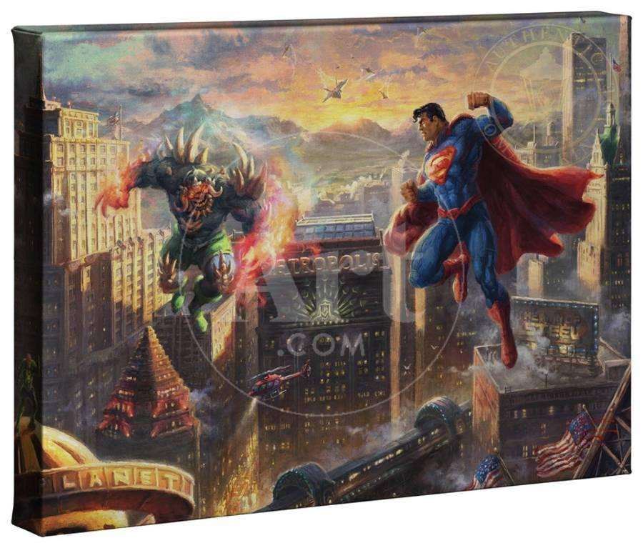 superman nursery decor.htm superman gallery wrapped canvas by thomas kinkade art com  superman gallery wrapped canvas by