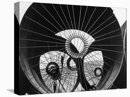 Support Struts Inside Section of Pipe Used to Divert the Flow of the Missouri River, Fort Peck Dam-Margaret Bourke-White-Stretched Canvas Print