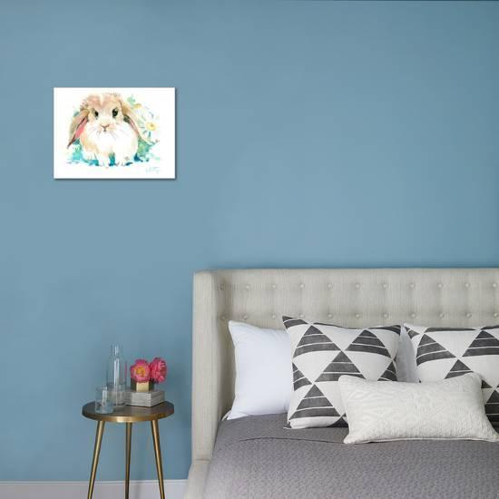 Suren Bunny Flower Stretched Canvas Print Suren Nersisyan Art Com