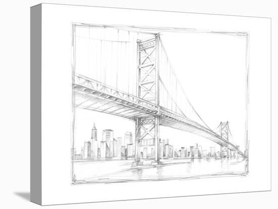 Suspension Bridge Study III-Ethan Harper-Stretched Canvas Print