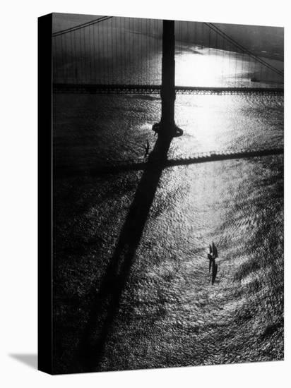 Suspension Tower of the Golden Gate Bridge at Sunrise-Margaret Bourke-White-Stretched Canvas Print