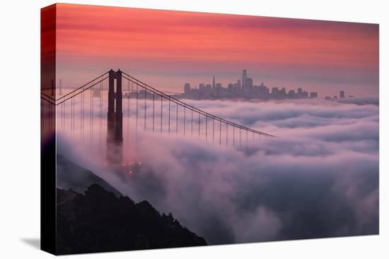 Sweet New Fog City Candy Sky Sunrise Golden Gate Bridge San Francisco-Vincent James-Stretched Canvas Print