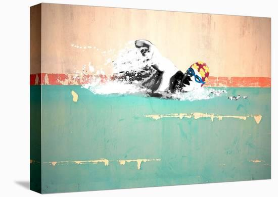 Swim on! Bronx, NYC-Masterfunk collective-Stretched Canvas Print