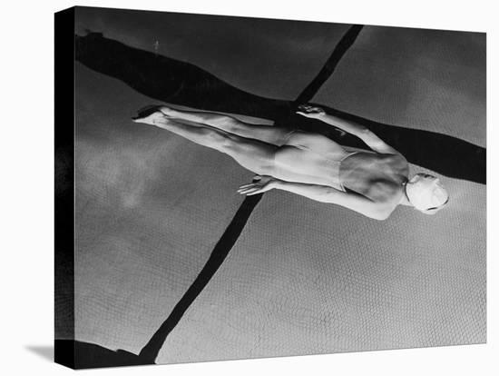 Swimmer Jeanne Wilson Underwater-Wallace Kirkland-Stretched Canvas Print