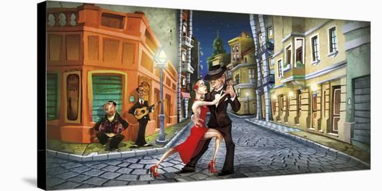 Tango-Adam Perez-Stretched Canvas Print