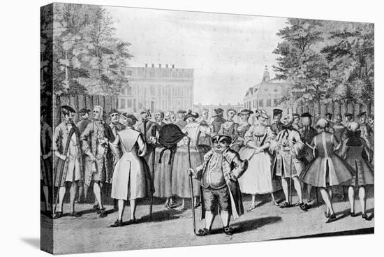 Taste a La Mode in the Year 1735: Being the Contrast to the Year 1745-Evan Davis-Stretched Canvas Print