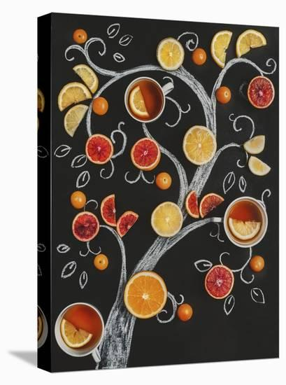 Teatime Tree-Dina Belenko-Stretched Canvas Print