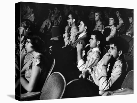 Teenage Audience Indoors at the Movies-Gordon Parks-Stretched Canvas Print