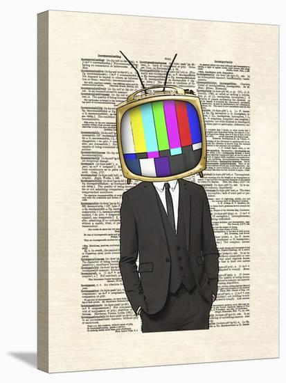 Television Head-Matt Dinniman-Stretched Canvas Print