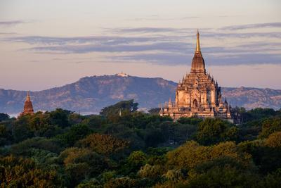 Temple of Gawdawpalin, Dated 12th Century, Bagan (Pagan), Myanmar (Burma), Asia-Nathalie Cuvelier-Stretched Canvas Print