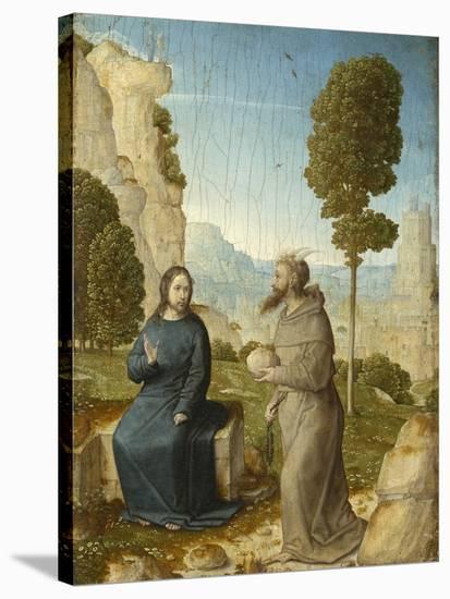 Temptation of Christ in the Wilderness, c.1500-4-Juan de Flandes-Stretched Canvas Print