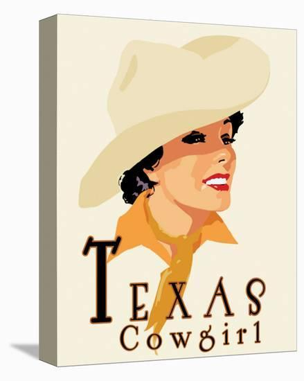 Texas Cowgirl-Richard Weiss-Stretched Canvas Print