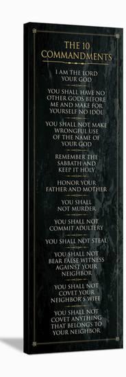The 10 Commandments (black)--Stretched Canvas Print