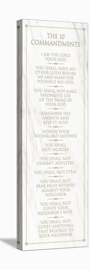 The 10 Commandments (white)--Stretched Canvas Print