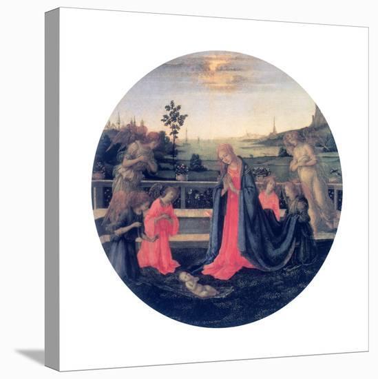 The Adoration, C1480s-Filippino Lippi-Stretched Canvas Print