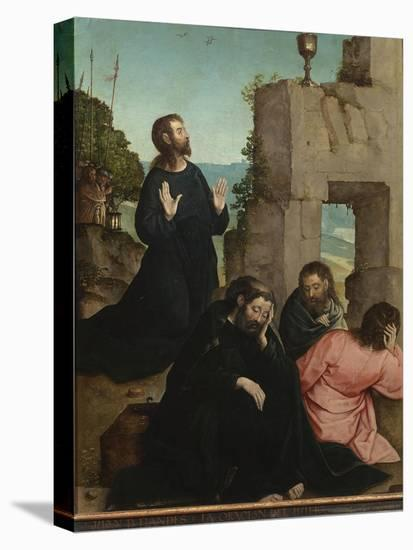 The Agony in the Garden-Juan de Flandes-Stretched Canvas Print