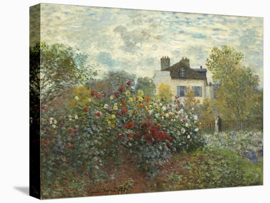 The Artist's Garden in Argenteuil (A Corner of the Garden with Dahlias), 1873-Claude Monet-Stretched Canvas Print