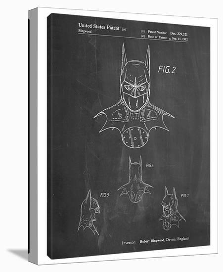 The Batman D-Cole Borders-Gallery Wrapped Canvas