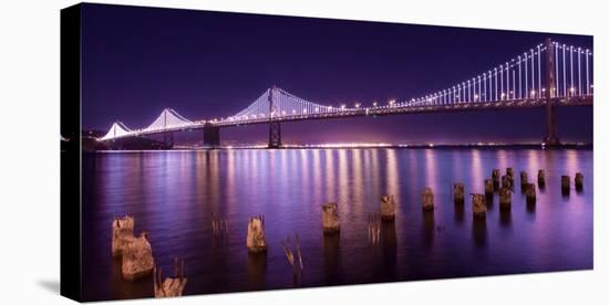 The Bay Lights-Greg Linhares-Stretched Canvas Print