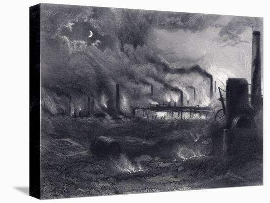 The Black Country Near Bilston, Staffordshire, 1869-G Greatbach-Stretched Canvas Print