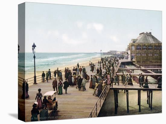 The Board Walk Atlantic City New Jersey--Stretched Canvas Print