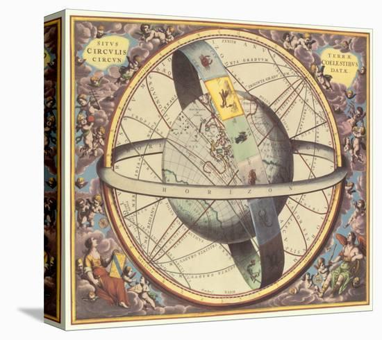 The Celestial Atlas-Andreas Cellarius-Stretched Canvas Print