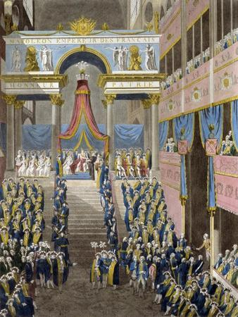 The Coronation of Napoleon on December 2, 1804, 1805--Stretched Canvas Print