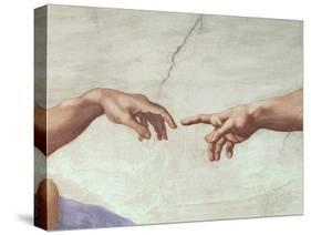 The Creation of Adam, c.1510 (detail)-Michelangelo Buonarroti-Premier Image Canvas