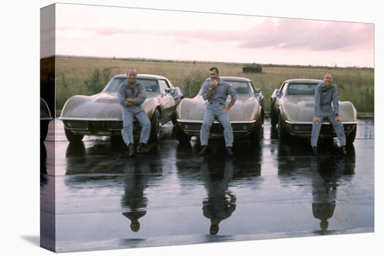 The Crew of Apollo 12 as They Sit on their Chevrolet Corvette Stingrays, September 23, 1969-Ralph Morse-Stretched Canvas Print
