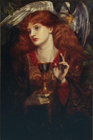 The Damsel of the Sanct Grail, 1874 Giclee Print - Dante