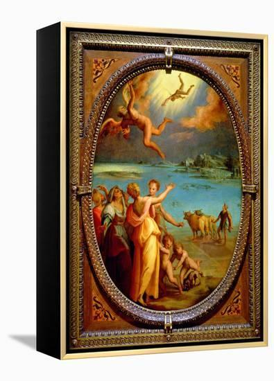 The Fall of Icarus, 1572- Maso Da San Friano-Framed Canvas Print
