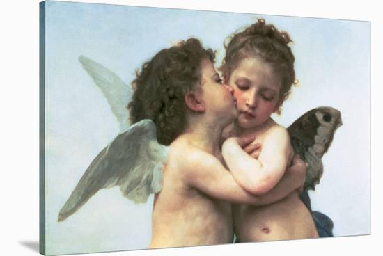 The First Kiss (detail)-William Adolphe Bouguereau-Stretched Canvas Print
