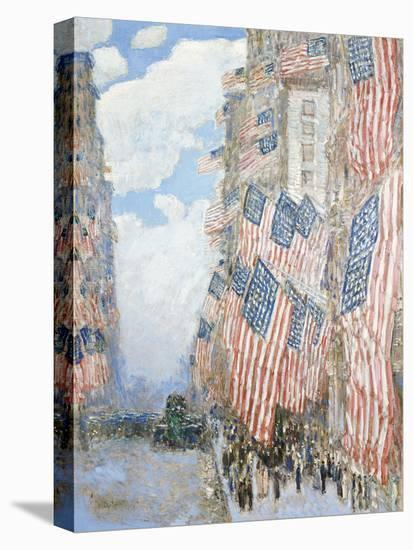 The Fourth of July, 1916-Frederick Childe Hassam-Stretched Canvas Print
