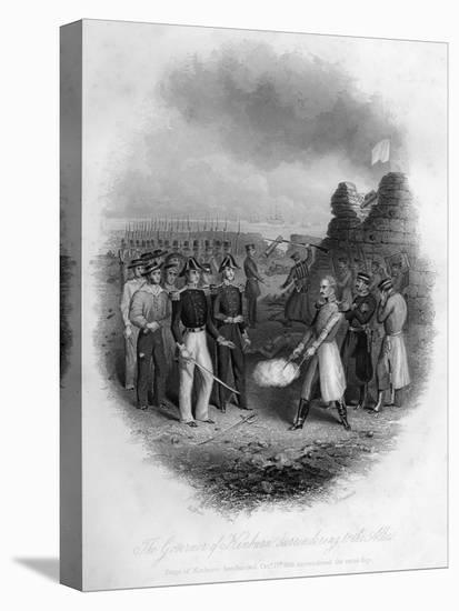 The Governor of Kinburn Surrendering to the Allies, Crimean War, October 1855-G Greatbach-Stretched Canvas Print