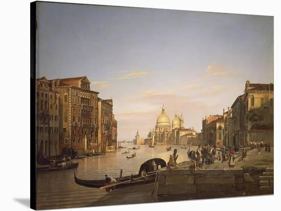 The Grand Canal in Venice, 1838-Francis Cotes-Stretched Canvas Print