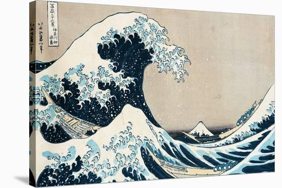 "The Great Wave Off Kanagawa, from the Series ""36 Views of Mt. Fuji"" (""Fugaku Sanjuokkei"")-Katsushika Hokusai-Stretched Canvas Print"